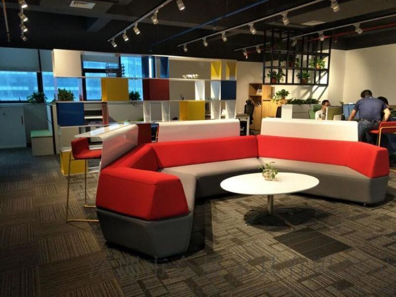 时尚会客沙发 办公接待沙发 组合布艺沙发 环岛沙发