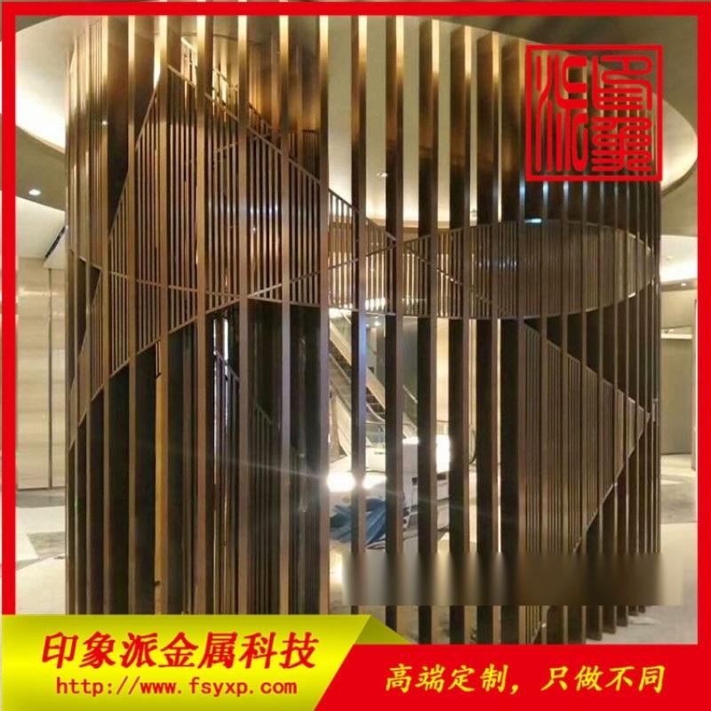 不鏽鋼304客廳酒店餐廳門面裝飾管制隔斷供應