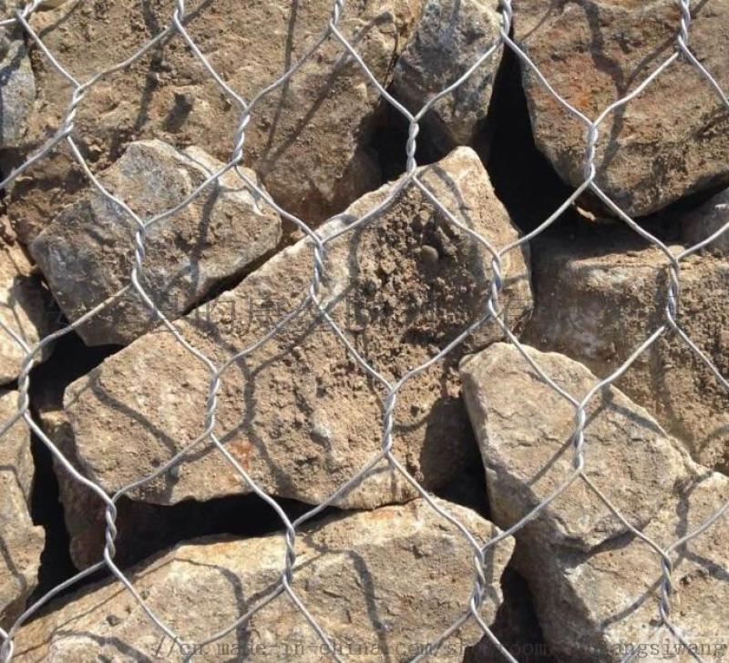 河道治理铁丝网/石笼网箱挡土墙/绿格石笼网厂家