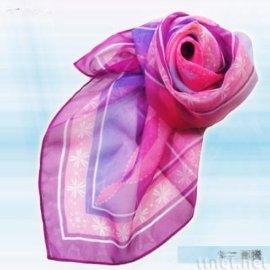 紫色图腾絲巾(S-006)
