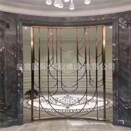 不鏽鋼屏風金屬制品 酒店餐廳客廳玄關鏤空屏風