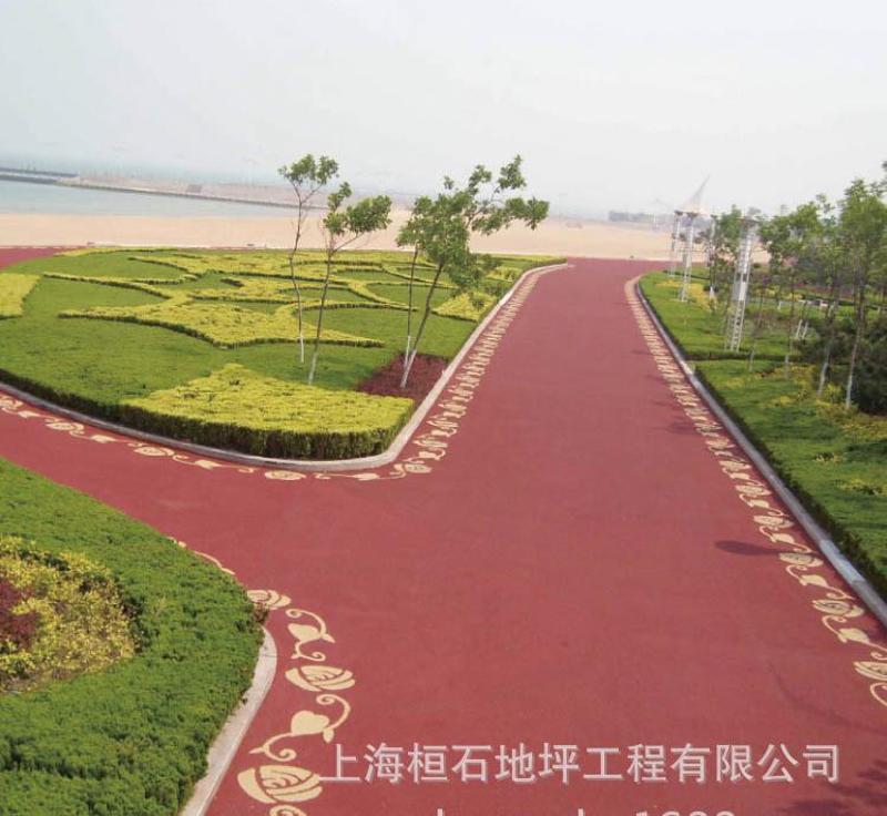 上海泰安透水地坪彩色混凝土透水路麪廠價直銷包指導施工30MM