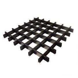 环保吊顶工程木纹铝格栅规格厂家定制白色铝格栅