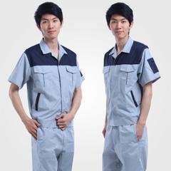 夏季短袖拼色工作服