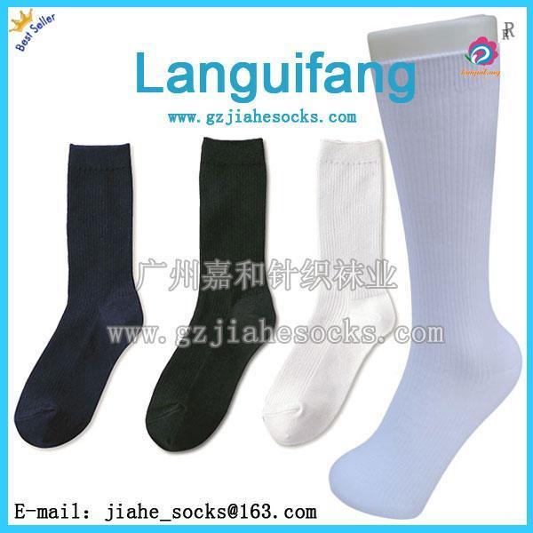 长筒学生袜 外贸长筒学生袜