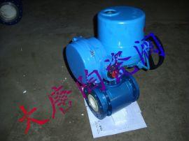 电动陶瓷球阀Q941TC,电动法兰陶瓷球阀,电动V型球阀,电动耐磨陶瓷球阀