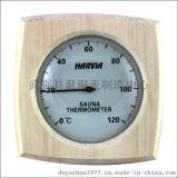 汗蒸房桑拿房专用高档木质温度计,湿度计