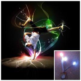 七彩闪光鞋灯鞋材 LED鞋灯