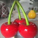 雕塑厂家直销玻璃钢樱桃造型 批发定制水果玻璃钢装饰