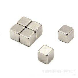 圆柱镀锌钕铁硼现货 包装磁铁强磁磁钢