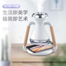 迷你usb无线充电家用办公室小型空气加湿器