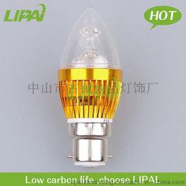 LED蜡烛泡 B22尖泡拉尾泡 3W4W5W可调光灯泡 大功率调光蜡烛泡