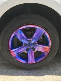 进口轮毂喷膜纳米电镀喷漆汽车镀铬件改色轮毂改色中网改色