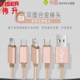 VISERTYPE-C尼龙编织数据线高端优质尼龙编织快速充电线2.4A安