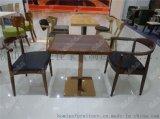 簡約咖啡廳餐桌椅,時尚休閒餐桌椅廣東鴻美佳廠家提供
