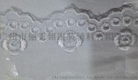3.2CM刺繡棉布花邊