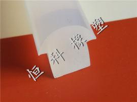 恒科 t型透明硅胶条 医用透明硅胶密封条