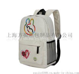 印花卡通背包 厂家定制加工休闲双肩背包可加logo
