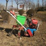 新品手推式施肥播种机黄豆玉米播种机