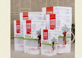 深圳市华彩兴包装材料有限公司专业生产精美彩色印刷白色牛皮纸开窗袋 零食专用袋