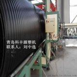 hdpe中空壁缠绕管生产线 pe缠绕排水管设备