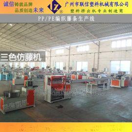 【广州联信】塑料仿藤机LXSJ-55仿藤机 高速藤条挤出机