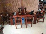 老船木茶几酒柜老船木吧台餐桌博古架