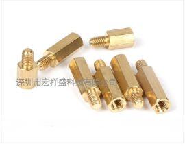 珠海宏祥盛六角铜柱特价 螺母/M6螺栓 自动车床加工