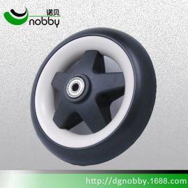 诺贝厂家供应b-S1701轻便婴儿手推车轮 6寸实心eva发泡轮