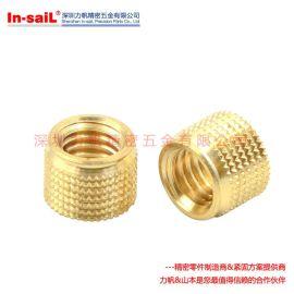 PKA-632 PKB-832 冷压开槽滚花铜螺母 塑胶专用铜螺母