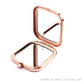 广州厂家生产定制化妆镜/订做折叠广告镜子