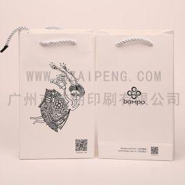 厂家定制 创意广告服装购物袋 环保白卡包装纸袋 礼品手提纸袋