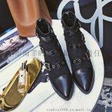 2017年秋季新款MC-5001高跟真皮女靴 欧洲名媛同款女靴定制加工