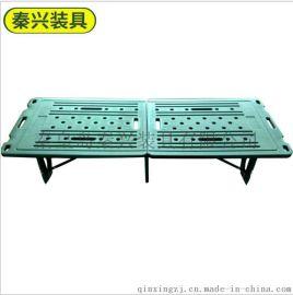 树脂面两折部队床 折叠小矮床 绿色休闲折叠床 简易折叠小床