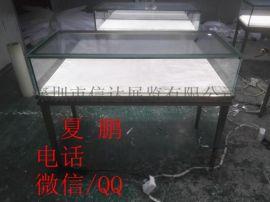 不锈钢珠宝展示柜珠宝陈列展览柜透明玻璃展示柜