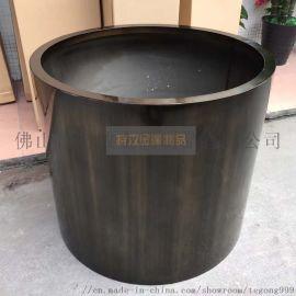 邵东哑光青古铜不锈钢花盆大型绿色环保金属花箱花插