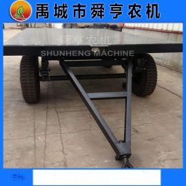 5吨平板拖车供应 双轴825-16轮胎牵引平板车