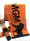 厂家订制纯棉运动巾球迷打气巾健身吸汗毛巾
