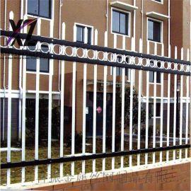 小区围墙隔离栅铁艺围栏@居民区围墙锌钢围栏
