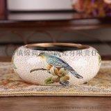景德镇陶瓷烟灰缸定制 时尚创意烟灰缸礼品