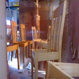 智嘉厂家供应整张实木餐桌椅全自动静电喷涂生产线