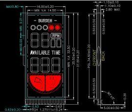 理发器LCD液晶显示屏