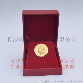 純金的毛主席像章千足金像章