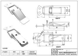 厂家供应高品质 低价格的QF-619烤炉搭扣 烧烤炉搭扣 烧烤箱箱扣