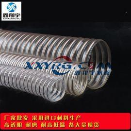 厂家批发pu透明钢丝螺旋吸尘管,PCB钻孔机吸尘管,印刷机通风管