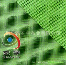 供應出口日本藍色和綠色高強紗圍裙PVC網格布 浸塑布,割草裙