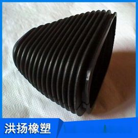 波纹橡胶护套  工业橡胶防尘套  橡胶伸缩防尘套