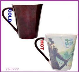 全变色杯 V型马克杯 游戏杯 大V杯 陶瓷变色杯,神奇变色杯 礼品杯 广告促销杯