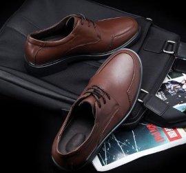 商务经典款男士休闲皮鞋 优质牛皮高档款男士舒适上鞋