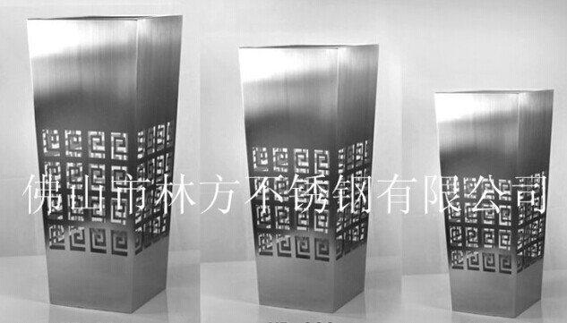 佛山创意不锈钢花盆,激光镂空精美装饰花瓶